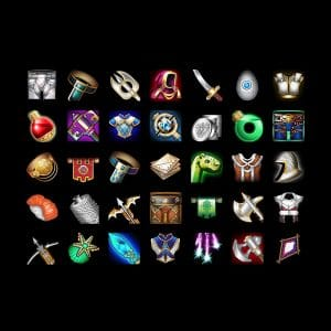 Online game icons